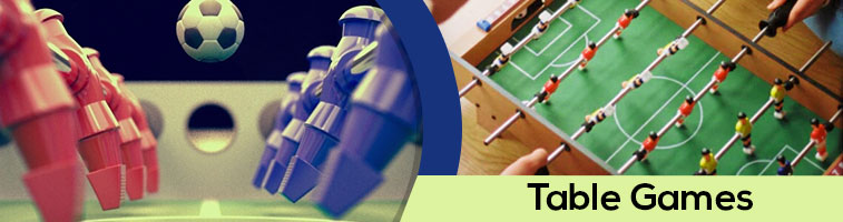 Buy table games - foosball, billiards, pool table & more. Check price, size, configuration & specification. Online delivery available. For home and office.