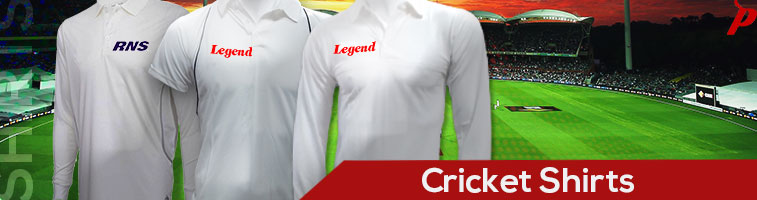 Buy genuine quality cricket shirts, jerseys, and whites from the best of brands like RNS, Supremo, Sportiff and Legend at pavilionsports.com. Cotton, netted, piping, dryfit, half sleeves, full sleeves, India, chennai.